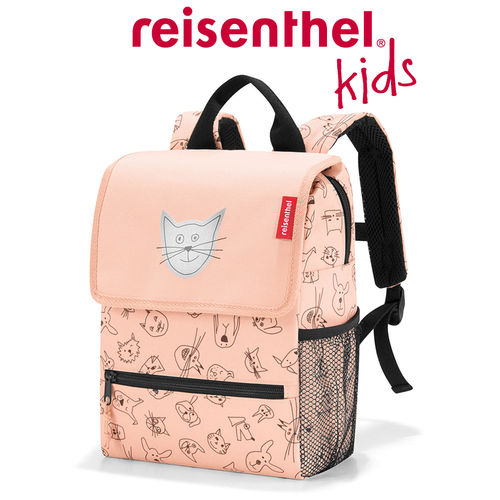 reisenthel - backpack - kids - cats and dogs rose