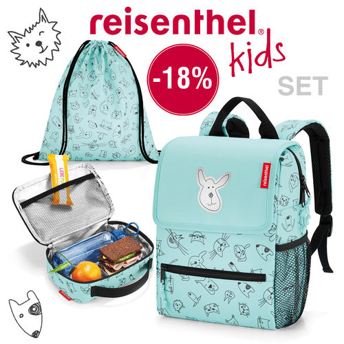 reisenthel - katalog set - kids - cats and dogs mint