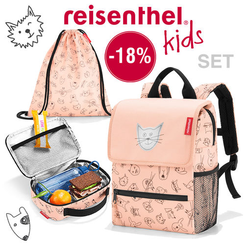 reisenthel - katalog set - kids - cats and dogs rose