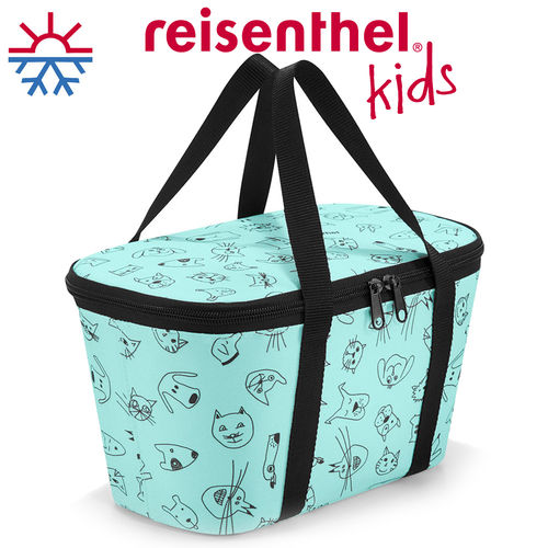 reisenthel - coolerbag XS - cats and dogs mint