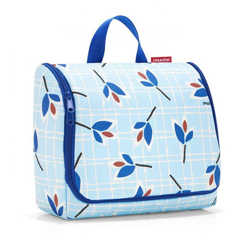 reisenthel - toiletbag XL - leaves blue